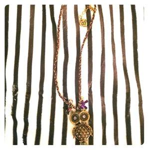Vintage Betsey Johnson Owl Necklace